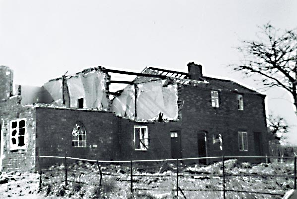 Mill houses being demolished