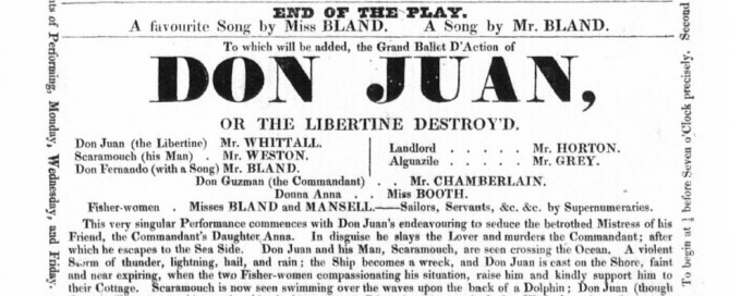 1822 Playbill