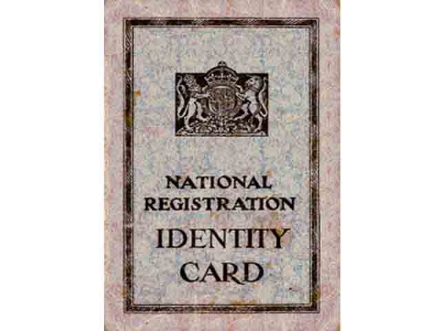 1939 National Registration Card